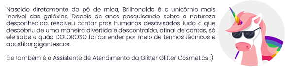 brilhonaldo, o agente secreto do glitter biodegradável.