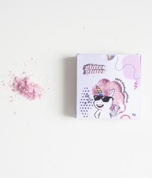 Glitter Biodegradável Rosa Bebê