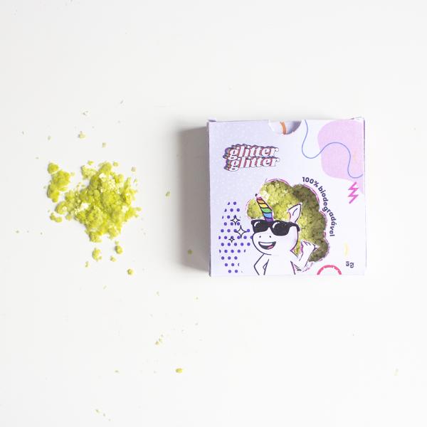Glitter Biodegradável Verde Limão